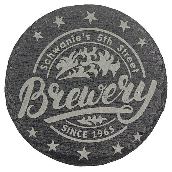 "4"" Round Slate Coaster - DogHouse Graphix,LLC"