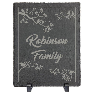 "Custom 8"" x 10"" Rectangle Slate Decor with Plastic Feet - DogHouse Graphix,LLC"