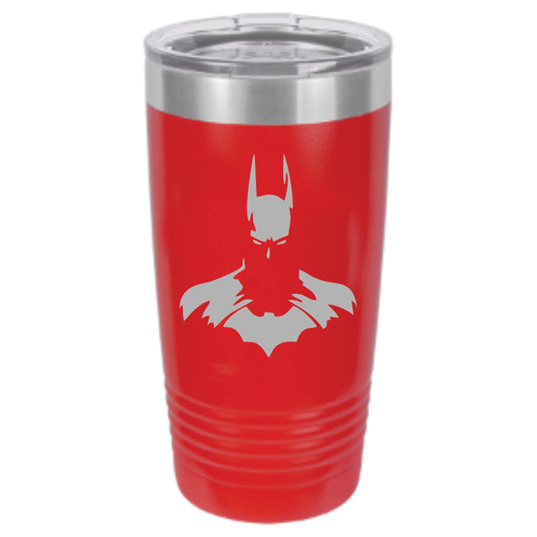 Dark Knight Powder Coated Tumbler - DogHouse Graphix,LLC