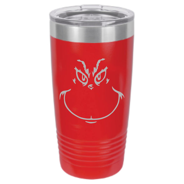 Grinch Powder Coated Tumbler - DogHouse Graphix,LLC