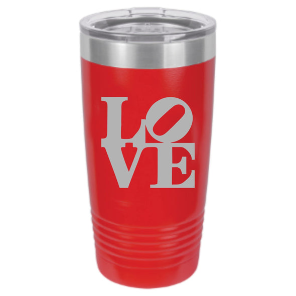 LOVE Sculpture Powder Coated Tumbler - DogHouse Graphix,LLC