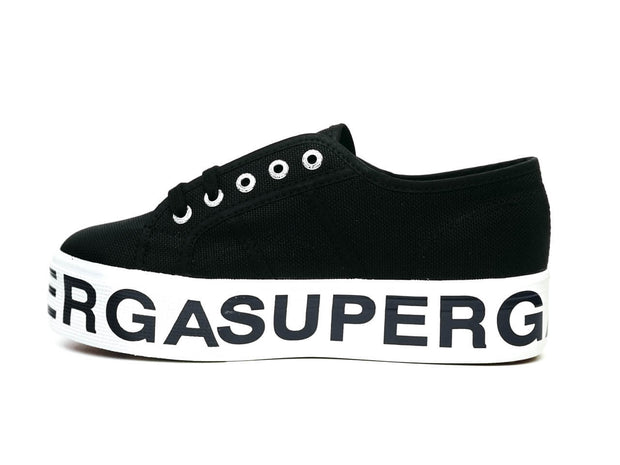 Superga cotu platform black