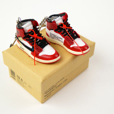 Portachiavi Mini Sneakers - Jordan 1 Chicago x Off-White