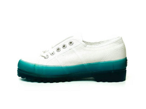 Superga ferragni blue low