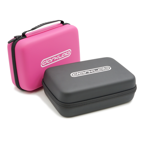 Carrying case for tattoo machines, available in pink or black on Darklab.com