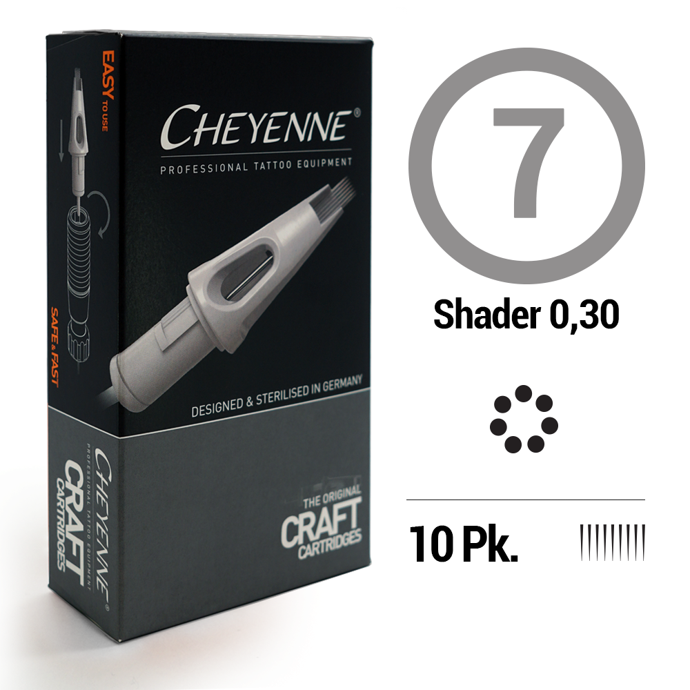 7 Shader Tattoo Craft Cartridge Needle