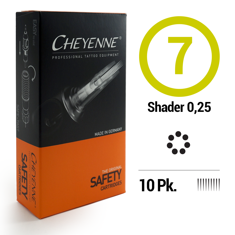 7 Shader .25 Tattoo Cartridge Needle
