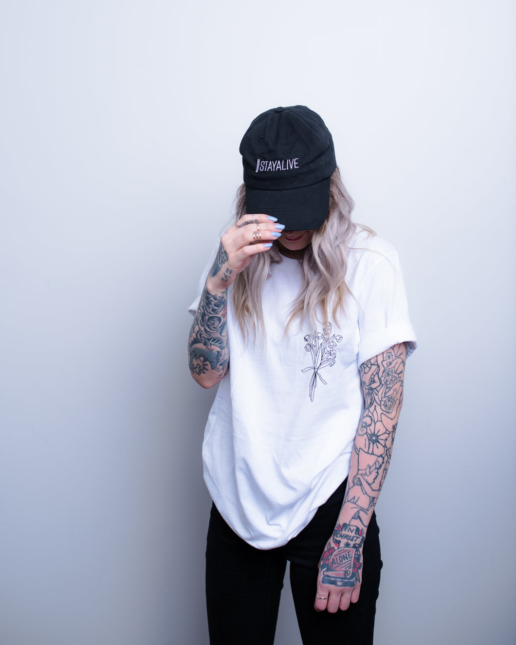 <center>Dad Hat (black)