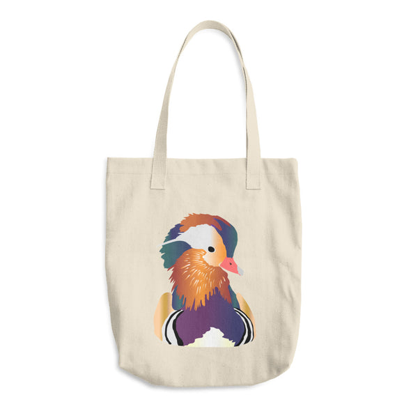 Mandarin Duck Cotton Tote Bag