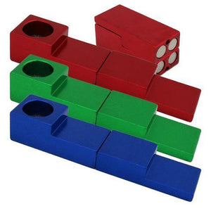 "3"" Magnetic Cube Metal Hand Pipe Assorted"