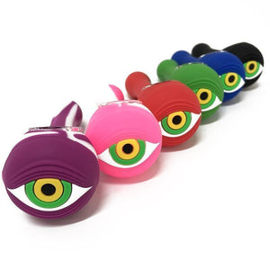 "4.5"" Silicone Eyeball Hand Pipe"