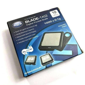 American Weigh Scale - Blade-1KG Digital Pocket Scale 1000g x 0.1g Black-Digital Scales-Vape In The Box