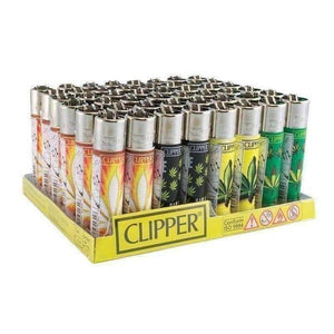 Clipper Hojas Maria Flint Lighter 48ct Display-Lighters-Vape In The Box