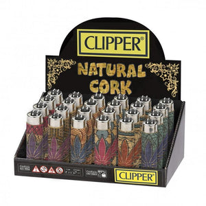 Clipper Lighter Displays: Natural Cork-Lighters-Vape In The Box