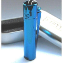 Load image into Gallery viewer, Clipper Metal Cigarette Lighter Blue-Lighters-Vape In The Box