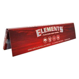 Elements Red Slow Burn 1 1/4 Smoking Papers-Rolling Papers-Vape In The Box