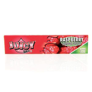 Juicy Jay's Raspberry King Size Slim Rolling Papers-Rolling Papers-Vape In The Box