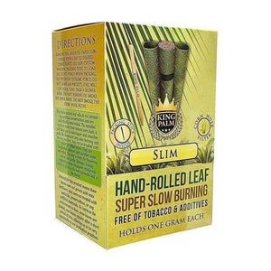 King Palm Super Slow Burning Wraps - Slim - 50 Count-Rolling Wraps-Vape In The Box