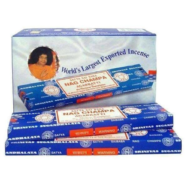 Nag Champa Incense - Satya Sai Baba 40gram 12packs-Incense & Air Freshener-Vape In The Box