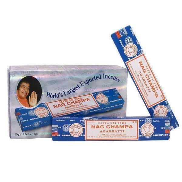 Nag Champa Incense Sticks 15g - Satya Sai Baba 12 Packs-Incense & Air Freshener-Vape In The Box