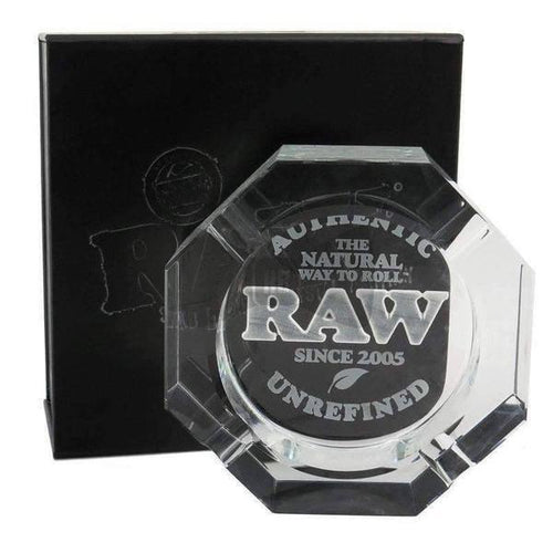 Raw Crystal Glass Ashtray-General Merchandise-Vape In The Box