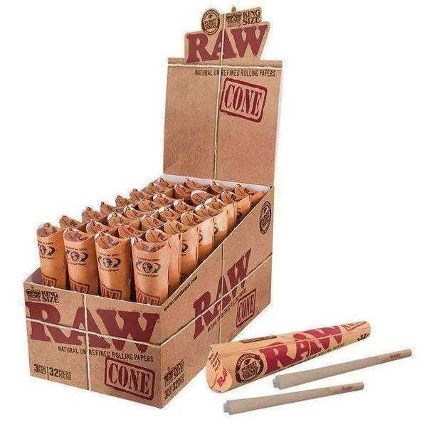 Raw King Size Cone Classic 32pk-Rolling Papers-Vape In The Box