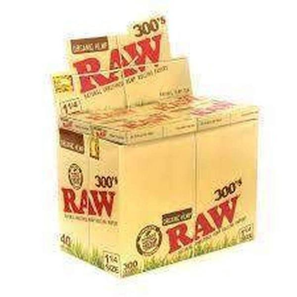 Raw Organic 300 Rolling Papers Display Box-Rolling Papers-Vape In The Box