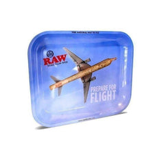 "Load image into Gallery viewer, Raw ""Prepare for Flight"" Large Rolling Tray-Rolling Trays-Vape In The Box"