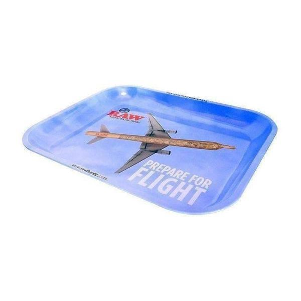 "Raw ""Prepare for Flight"" Large Rolling Tray-Rolling Trays-Vape In The Box"