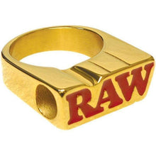 Load image into Gallery viewer, Raw Smoke Ring – 24K Gold Plated-General Merchandise-Vape In The Box