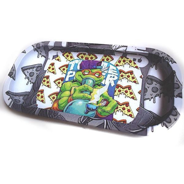 Rolling Trays: Ninja Turtles Smoking Michaelangelo-Rolling Trays-Vape In The Box