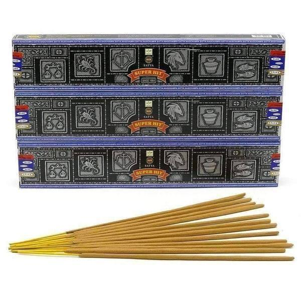 Satya Nag Champa Super Hit Incense Sticks 15 grams 12pk-Incense & Air Freshener-Vape In The Box