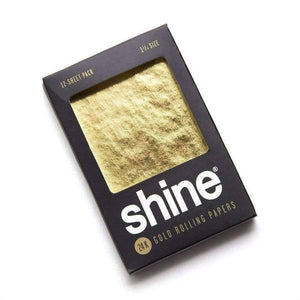 Shine 24K Gold 12-Sheet Pack-Rolling Papers-Vape In The Box