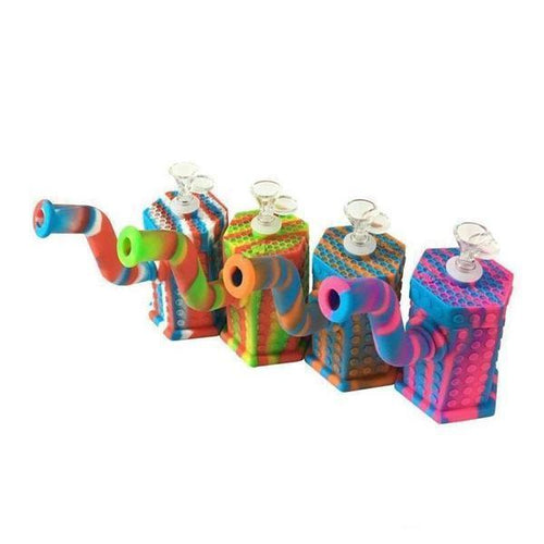 Silicone Hexagon Water Pipe-Water Pipes-Vape In The Box