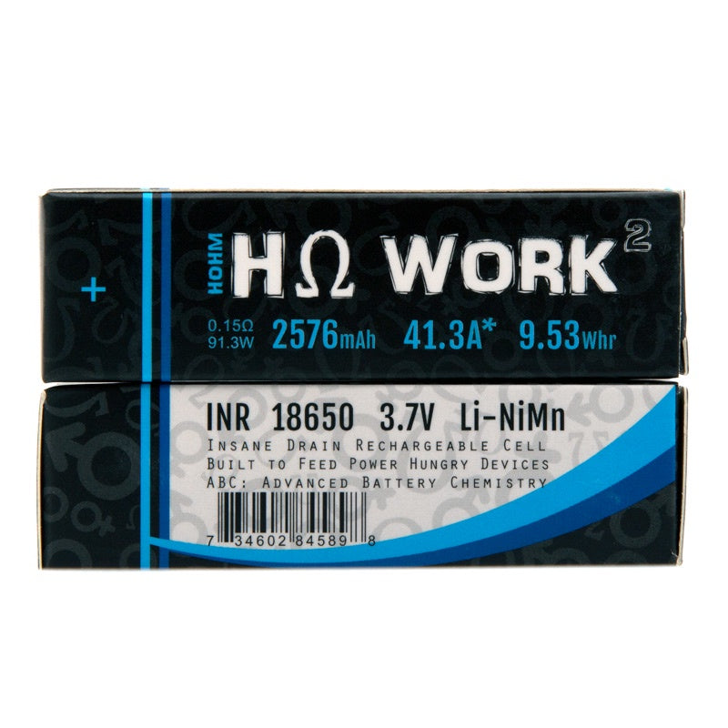 Hohm Tech Hohm Work 18650 Battery (2pk) - 41.3A | 2576mAh