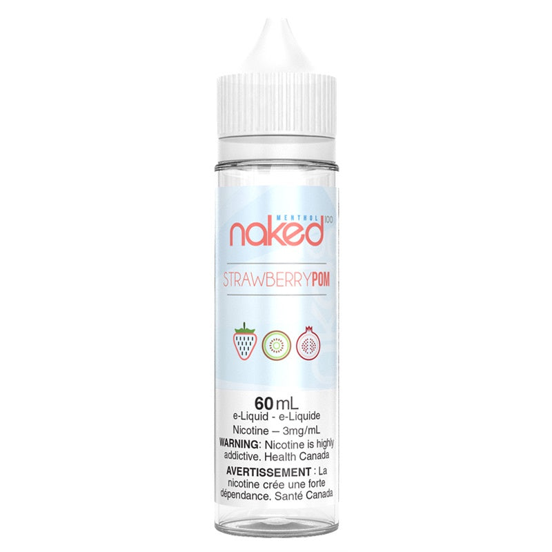 Strawberry Pom (Brain Freeze) E-liquid - Naked 100 (60mL)