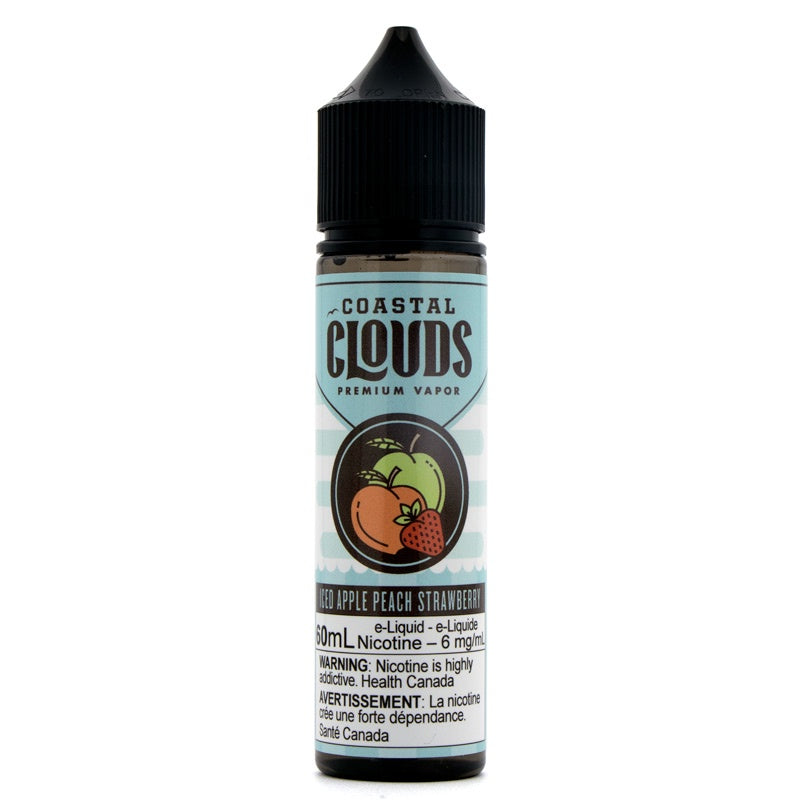 Iced Apple Peach Strawberry Sub-Ohm Salts - Coastal Clouds (60mL)