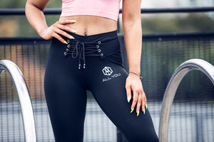 Waist belt leggings Black