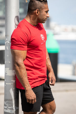 Mens Muscle Tees Red
