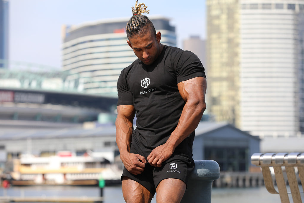 Mens Muscle Tees Black