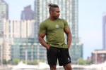 Mens Muscle Tees Khaki