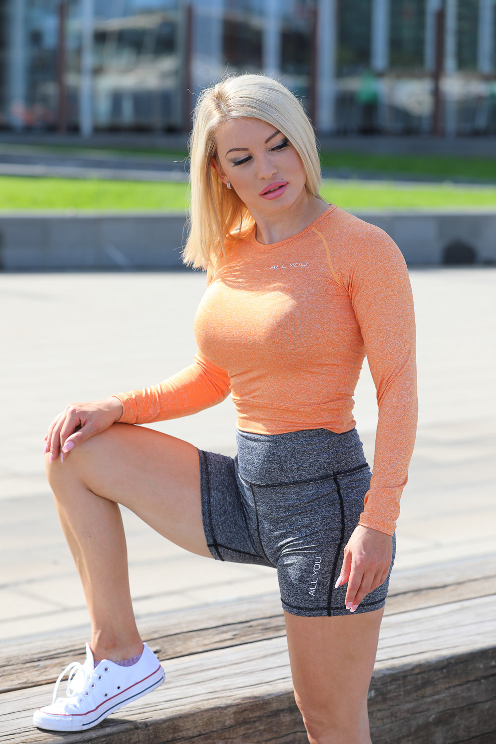 Womens Compression Top Orange