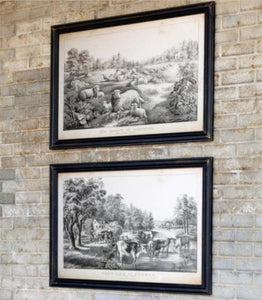 Farm-Life Framed Prints, 2 Assorted Styles