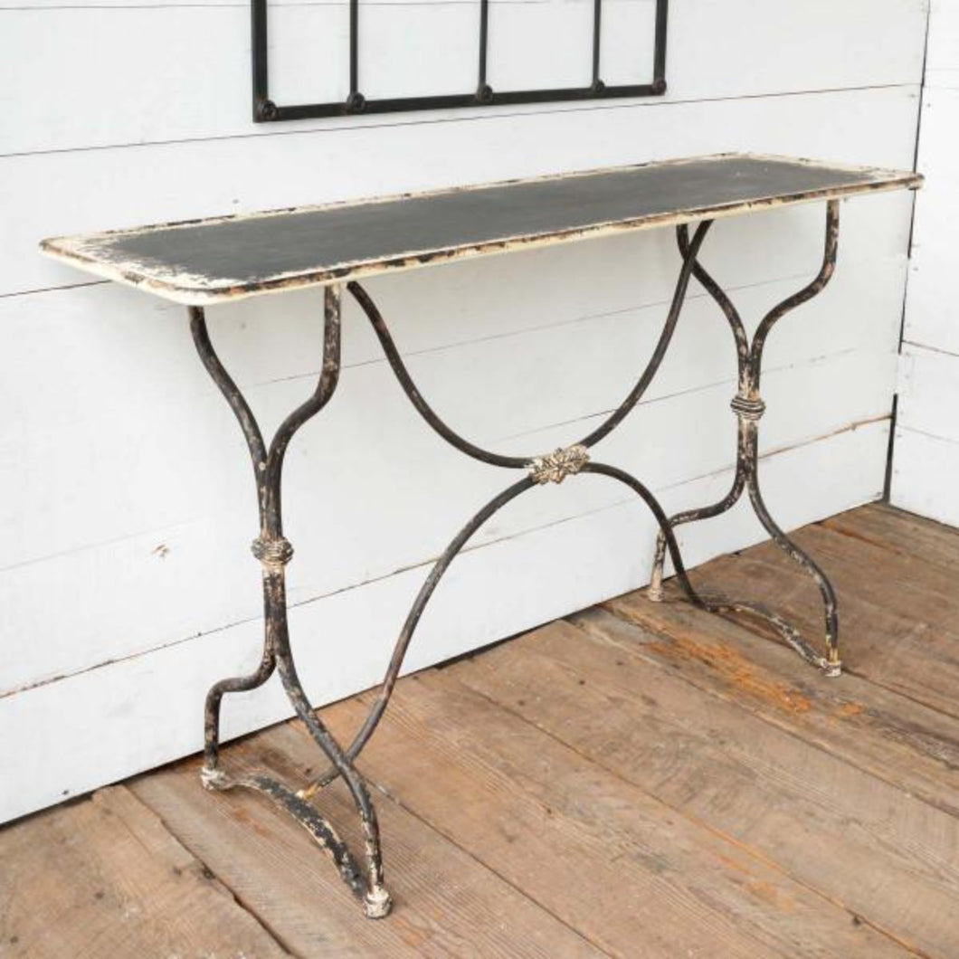 Distressed Metal Sewing Factory Hall Console Table