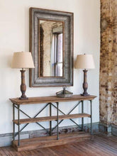 Double X Old Elm Console