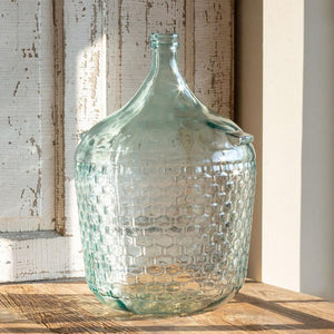 Cellar Bottle Embossed Basketweave, Large