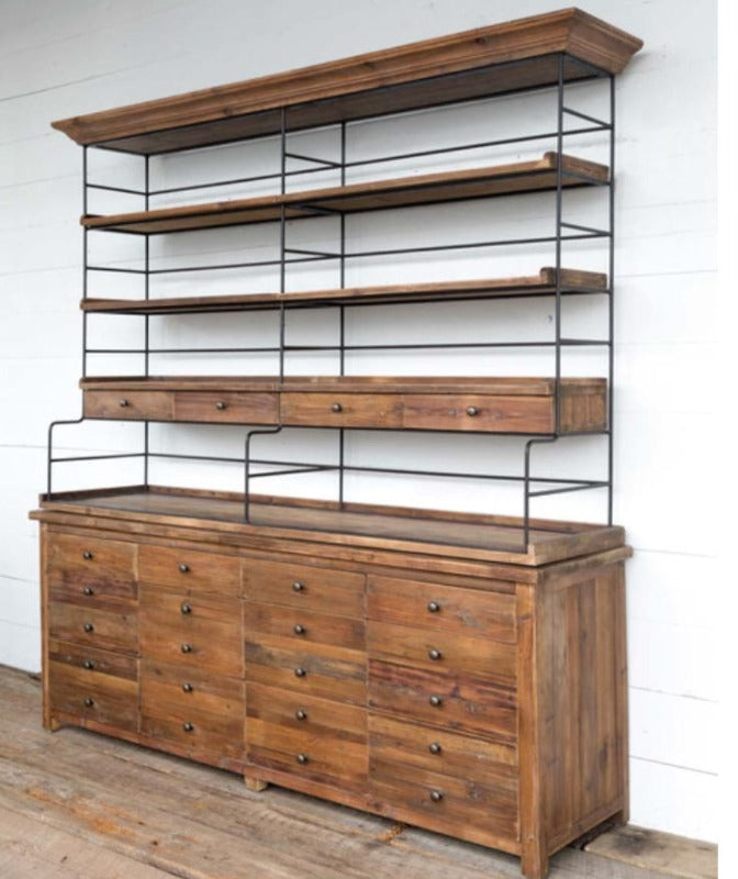 Old Pine Double Bakers Rack