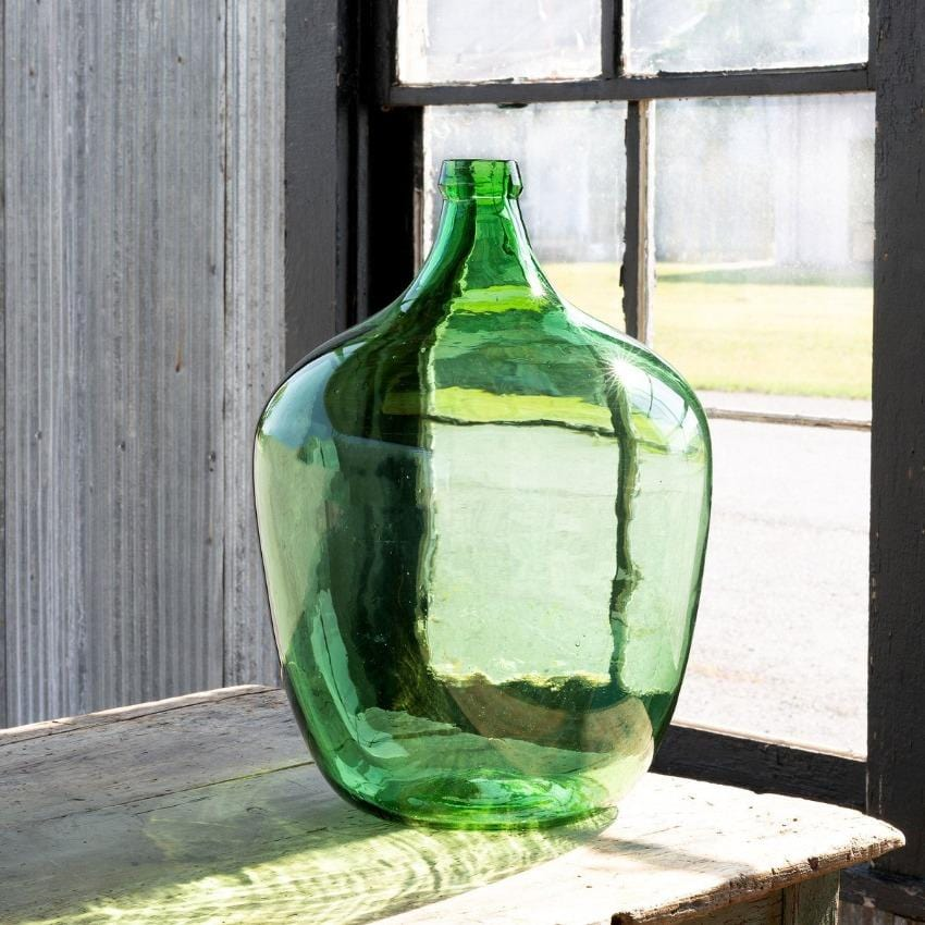 Recycled Green Glass Vase, Large