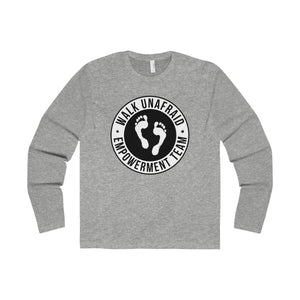 WALK UNAFRAID™ Men's Long Sleeve Crew Logo Tee