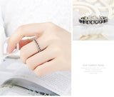 Romantic Silver Color Heart to Heart Ring AAA Zirconia Cheap Rings for Women Wedding Ring